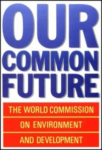 "Inspiratie: Our common future - World Commission on Environment and Development (WCED) ""Het Brundtland-rapport"""